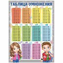 Постеры и календари - Плакат настенный «Таблица умножения», 440*600мм, 0