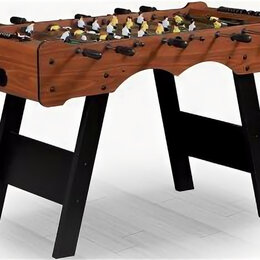 """Игровые столы - Настольный футбол (кикер) """"stuttgart"""" (122x61x81см, коричневый), 0"""