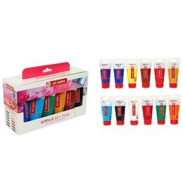 Аэрозольная краска - Royal Talens УЦЕНКА Краска акриловая в тубе, набор 12 цветов х 75 мл, Royal T..., 0