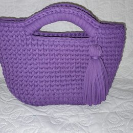 Сумки - Вязанная сумка из трикотажной пряжи, 0