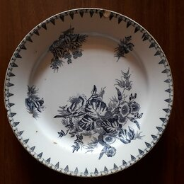 Тарелки - Фарфорвая тарелка Т-ва М.С.Кузнецова, 0