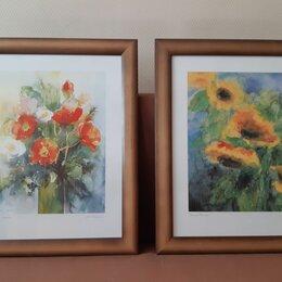 Картины, постеры, гобелены, панно - Постеры 3 шт, панно с керамикой 2 шт., 0