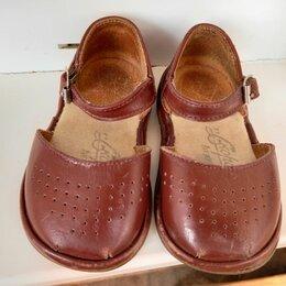 Сандалии - Винтажные советские/СССР коричневые детские кожаные сандалии р.11,5/скороход, 0