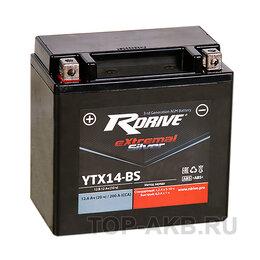 Аксессуары и запчасти - Аккумулятор для скутера RDrive eXtremal SILVER YTX14-BS YTX14-BS, 12 A/ч, 200..., 0