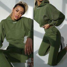 Комбинезоны - Весенняя осень Мода Двух частей повседневный костюм Hoodie и брюки, 0