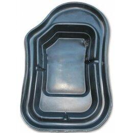 Готовые пруды и чаши - Пруд декоративный 900л садовый прочный (235х150х60см), 0