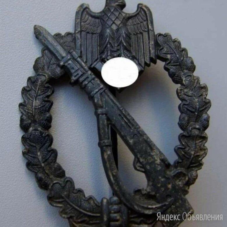 Нагрудный штурмовой пехотный знак вермахт по цене 5000₽ - Жетоны, медали и значки, фото 0