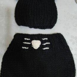 Головные уборы - Шапочка маус с ушками и шарф, 0