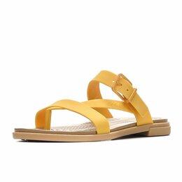 Шлепанцы - Шлепанцы/сланцы Crocs, жёлтые, 0