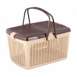 Наборы для пикника - Корзина для пикника 44,5х34х25см бежево-коричневый, 0