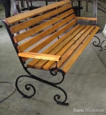 Скамейка с элементами ковки по цене 15000₽ - Скамейки, фото 0