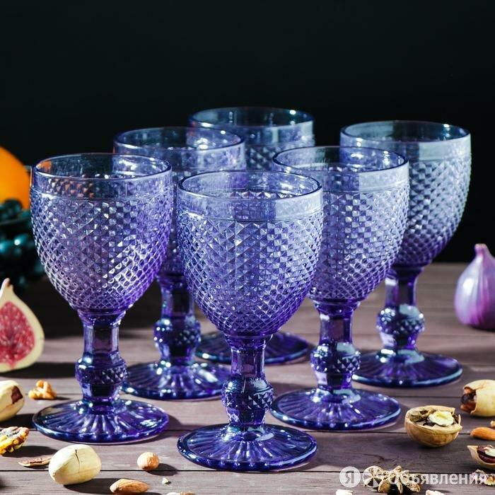 Набор бокалов Magistro 'Династия', 280 мл, 6 шт, 8x16 см, цвет фиолетовый по цене 2464₽ - Бокалы и стаканы, фото 0