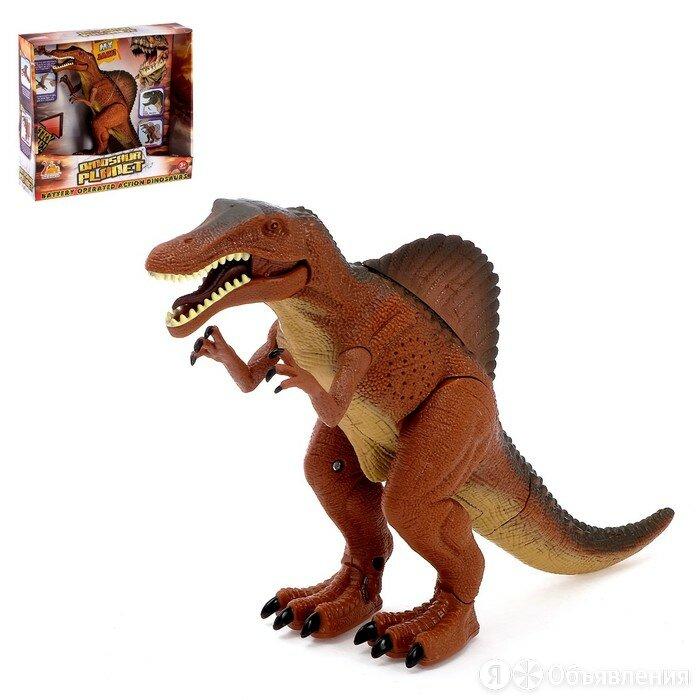 Динозавр 'Спинозавр', работает от батареек, световые и звуковые эффекты по цене 1302₽ - Игровые наборы и фигурки, фото 0
