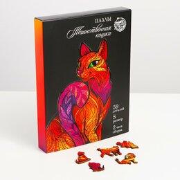 Пазлы - Деревянные пазлы «Таинственная кошка», 0
