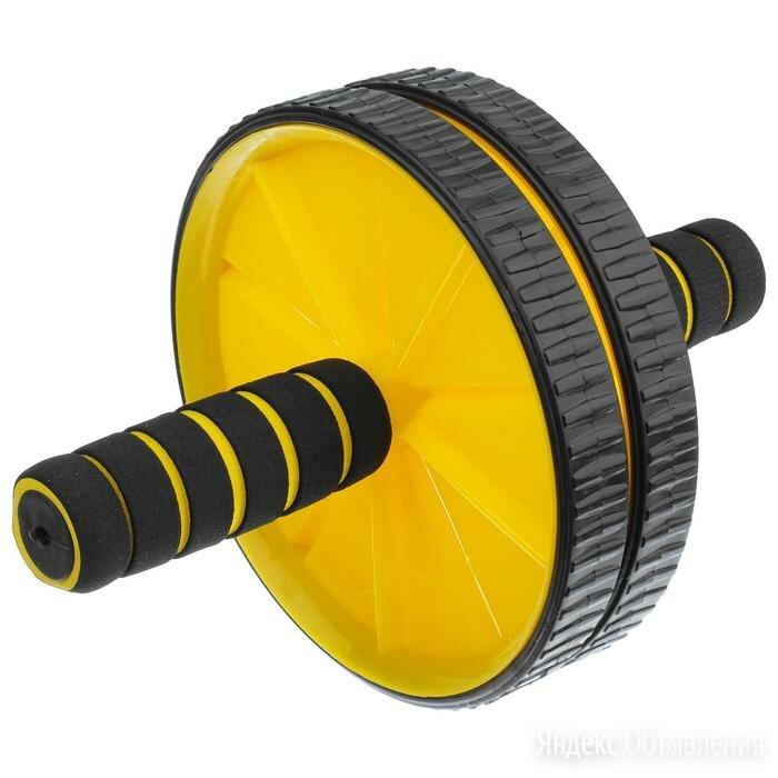 Ролик для пресса 2 колеса, цвета МИКС по цене 1198₽ - Аксессуары, фото 0