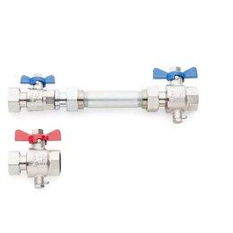 Водопроводные трубы и фитинги - REHAU Комплект для установки теплосчетчика, горизонтальный, REHAU 12197581001, 0