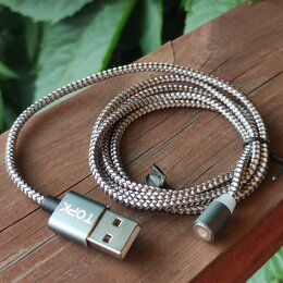 Компьютерные кабели, разъемы, переходники - Кабель магнитный 1м microUSB, 0
