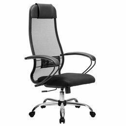 Компьютерные кресла - Компьютерное кресло Метта хром ткань-сетка, 0
