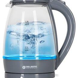 Электрочайники и термопоты - Чайник электрический Gelberk GL-473 серый 1,8л сте, 0