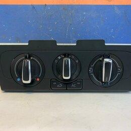 Электрооборудование - Блок кнопок управления печки Volkswagen Polo 10-20 (6R0820045L), 0
