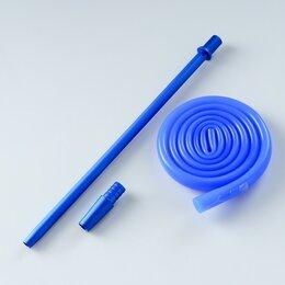 Шланги и комплекты для полива - Мундштук и шланг, шланг 120 см, внутренний d=12 мм, синий, 0