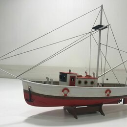 Сборные модели - Рыболовецкий катер траулер (деревянная модель корабля), 0