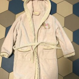 Домашняя одежда - Махровый халат для девочки 5-7 лет, 0
