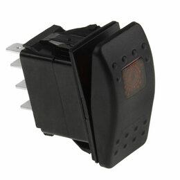 Электроустановочные изделия - Переключатель двухпозиционный (ON)-ON 12В/20А 7Р с подсветкой без фиксации 1 ..., 0
