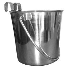 Миски, кормушки и поилки - Уют Ведро металлическое 5,68 л, на крючках, 0