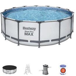 Бассейны - Каркасный бассейн BestWay Steel Pro MAX 56420Б (366х122см), 0