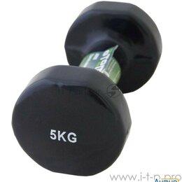 Защита и экипировка - Гантель виниловая Atemi, Ad055, чугун, 5 кг, 0