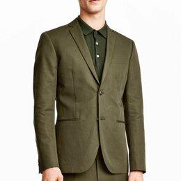 Костюмы - Классический костюм цвета хаки мужской H&M HM, 0