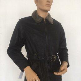 Куртки - Куртка мужская кожаная утепленная с поясом р.50 /10322/, 0