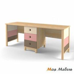 Компьютерные и письменные столы - Стол на два рабочих места розовый «Робин Wood», 0