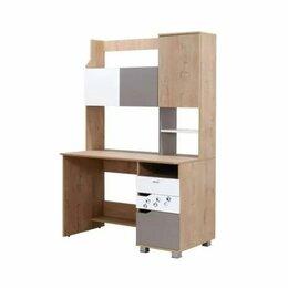 Компьютерные и письменные столы - Стол письменный с надстройкой Хаски, 0