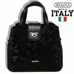 Дорожные и спортивные сумки - Кожаная сумка Милитари-Итальянская на поворотном замке - Черный, 0