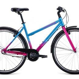 Велосипеды - Городской велосипед FORWARD Corsica 28 голубой/розовый (2021), 0