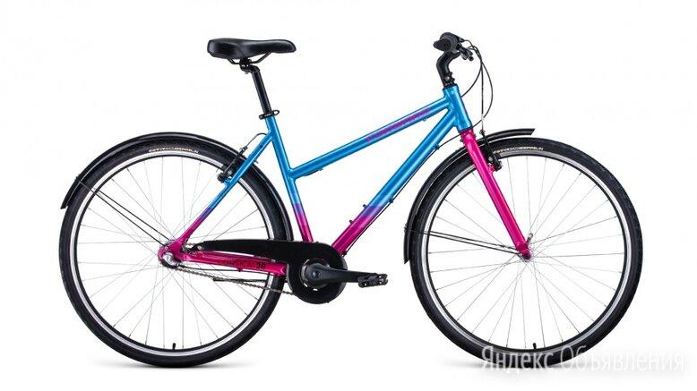 Городской велосипед FORWARD Corsica 28 голубой/розовый (2021) по цене 26901₽ - Велосипеды, фото 0