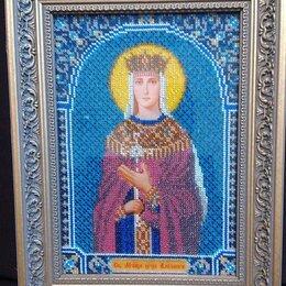 Иконы - Икона бисером «Святая Царица Александра» (hand-made), 0