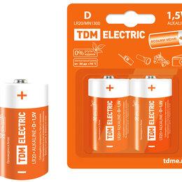 Батарейки - Элемент питания LR20 D Alkaline 1,5V BP-2 TDM 1702-0012, 0