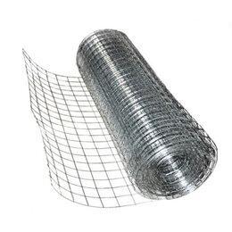 Заборчики, сетки и бордюрные ленты - Сетка сварная оцинкованная 50х50х2.5, рулон 1.5х15м, 0