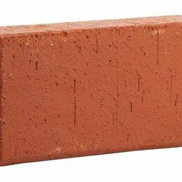 Тротуарная плитка, бордюр - Клинкерная нескользкая долговечная брусчатка красная, 0