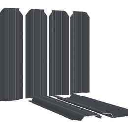 Заборы, ворота и элементы - Штакетник металлический Узкий 85мм RAL7024/7024 Серый графит 2-х сторонний, 0