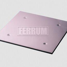 Экраны для радиаторов - Экран защитный Ferrum (430/0,5 мм) 500*500 с отв. 110, 0