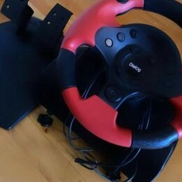 Рули, джойстики, геймпады - Игровой руль с педалями  dialog gw-10vr, 0