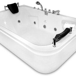 Гидромассажеры - Гидромассажная ванна Gemy G9085 B L (1800x1160x690) хромотерапия, смеситель, ..., 0