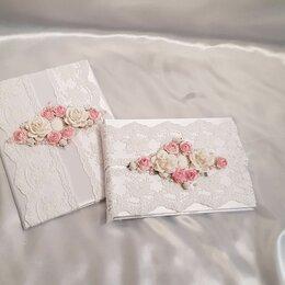 Свадебные украшения - Комплект папка свидетельства о браке и книга пожеланий, 0