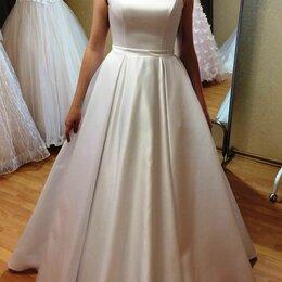 Платья - Белое платье атлас микадо , 0