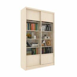 Шкафы, стенки, гарнитуры - Библиотека-купе Вместительная  2 стекло+ЛДСП Венге Светлый, 0