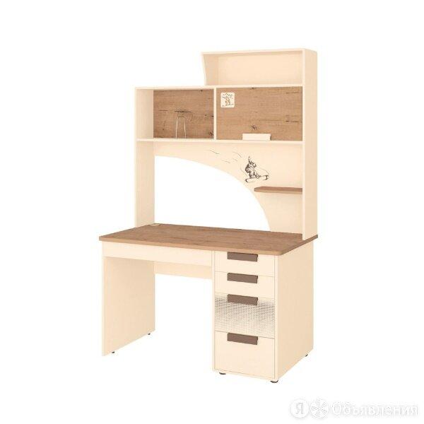 Фабрика мебели Витра Стол с надстройкой Фристайл 61 Дуб бунратти - Крем 1200x... по цене 14427₽ - Компьютерные и письменные столы, фото 0